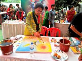 স্বাধীনতা দিবসে শিল্পীর'রং-তুলিতে মুক্তিযুদ্ধ'