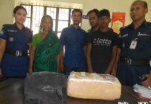 ফরিদপুরে তিন কেজি গাঁজাসহ নারী মাদক ব্যবসায়ী গ্রেফতার
