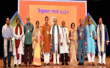 সাত গুণী শিল্পিকে 'শিল্পকলা পদক-২০১৭' প্রদান করলেন রাষ্ট্রপতি