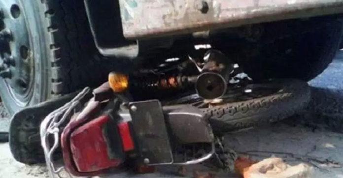 সিরাজদিখানে সড়ক র্দুঘটনায় মোটরসাইকলে আরোহী নিহত