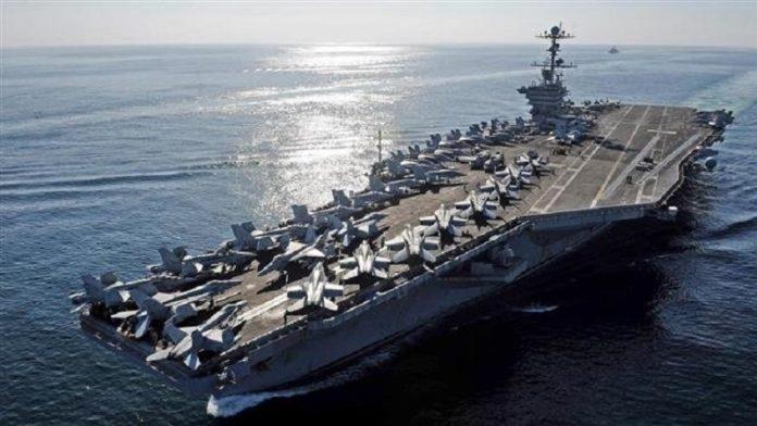 পারস্য উপসাগরে ঘুরছে মার্কিন যুক্তরাষ্ট্রের বিমানবাহী যুদ্ধজাহাজ