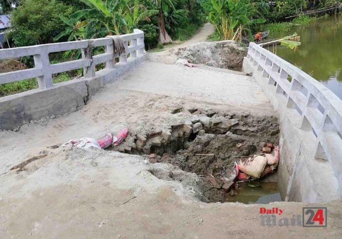 ফরিদপুরে বন্যায় রাস্তাঘাটসহ প্রাথমিক বিদ্যালয় নদী গর্ভে